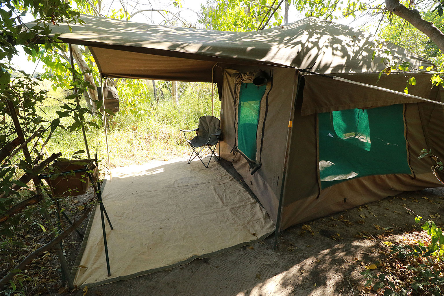 Tents-in-our-camp-Nature-Guide-Training-Botswana