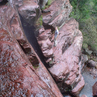 Climbing the waterfall, 2004