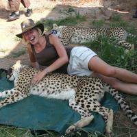 Surette-and-a-cheetah,-2009