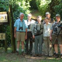 Birding group, Eastern South Africa, Rockjumper, 2014