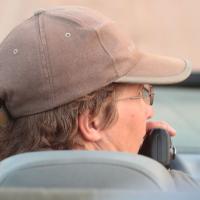 Diana on drive at Djuma, 2014