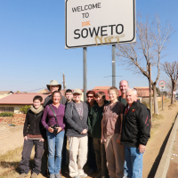 Sandy Reed and her group, Soweto, 2016