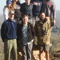 West Kentucky University group with Brendan Pienaar, 2016, Ngala Camp